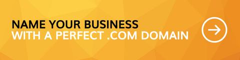 Name your business with a perfect .com domain