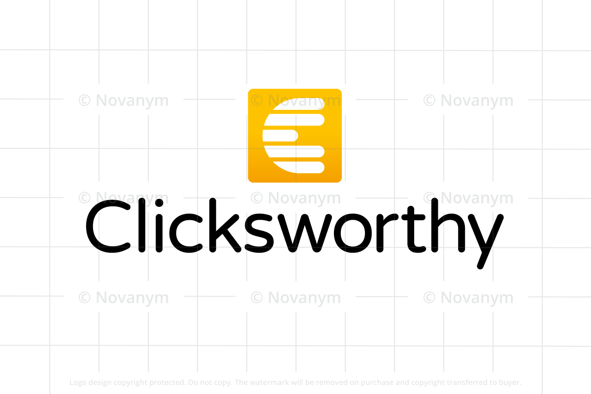 Clicksworthy is a unique business name for sale at Novanym