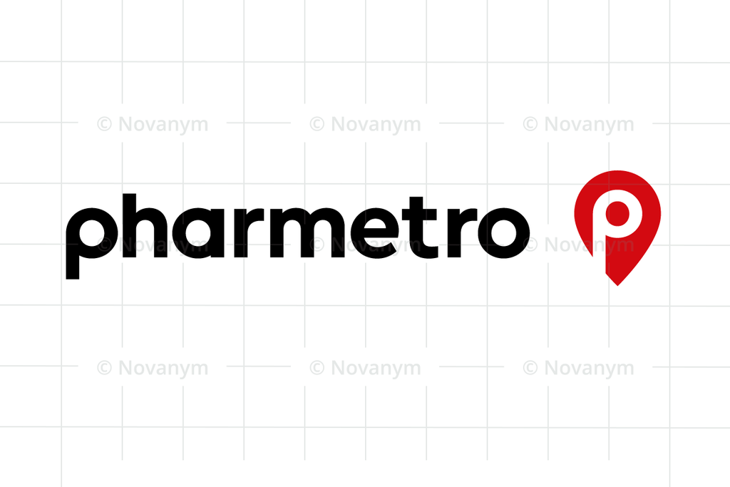 Pharmetro is a unique business name for sale at Novanym