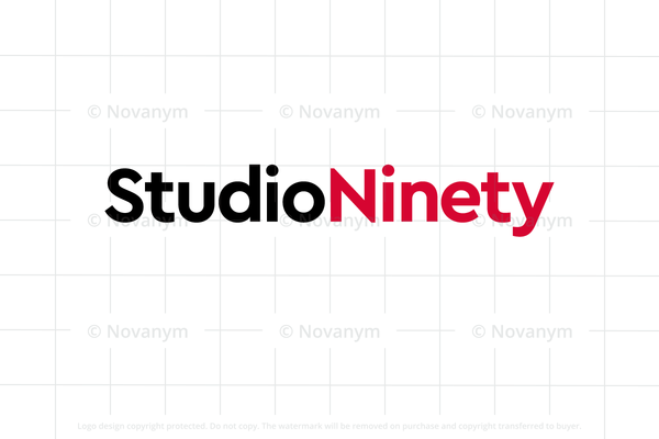 StudioNinety is a unique business name for sale at Novanym
