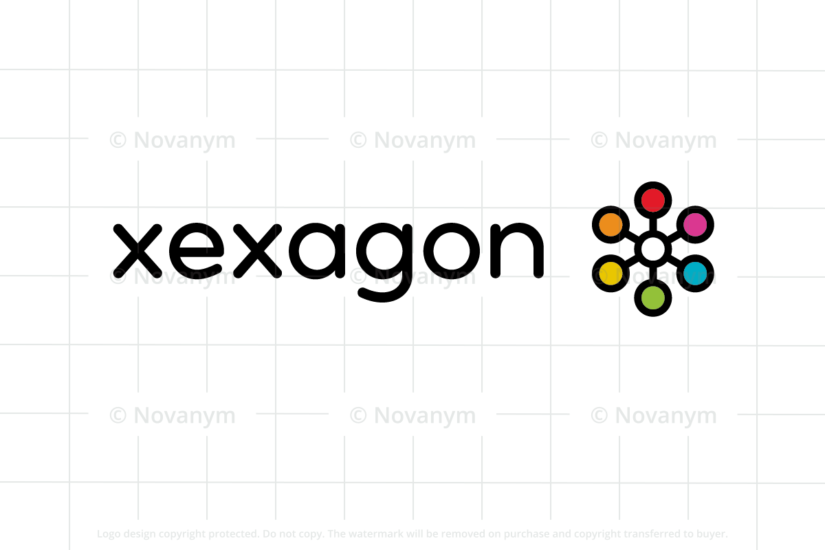 Xexagon is a brandable domain name for sale