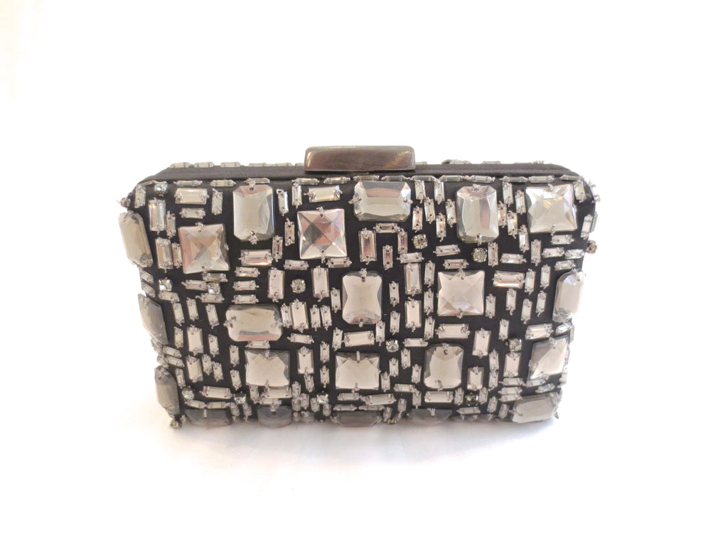 Geometric Stone Box Clutch