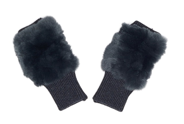 Black Fox Knit Mittens