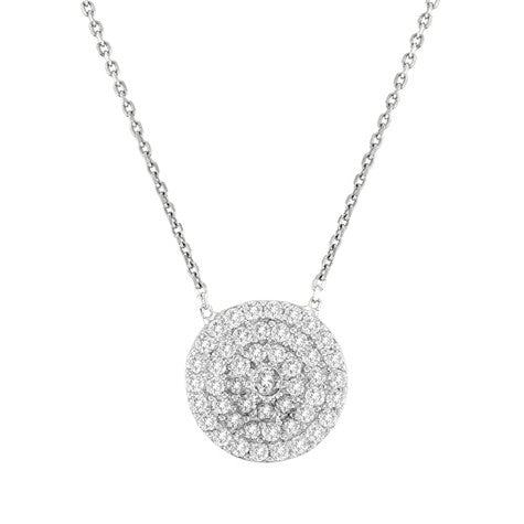 PAVE DISC Diamond CZ Necklace
