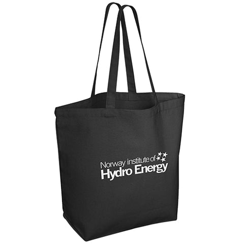 10oz Black Canvas Shopping Bags