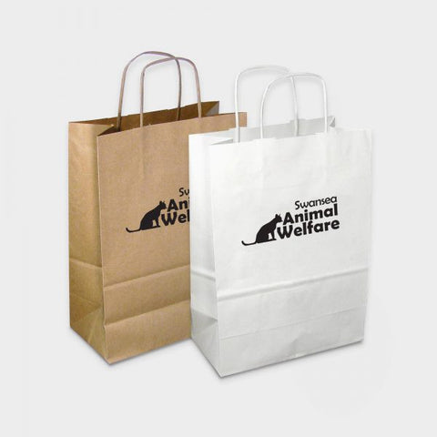 Twisted Paper Handle Carrier Bag