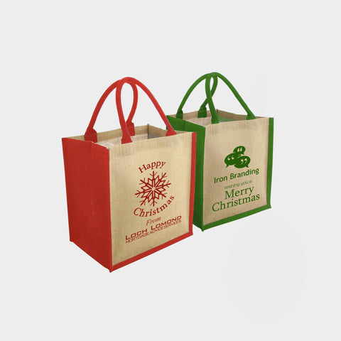 Christmas Brighton Jute Bag