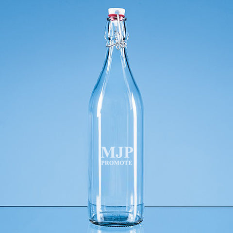 1 Litre Round Swing Top Glass Bottles