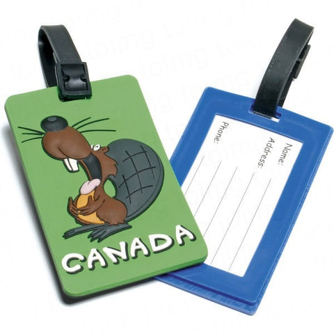 2D Soft PVC Luggage Tags - Adband