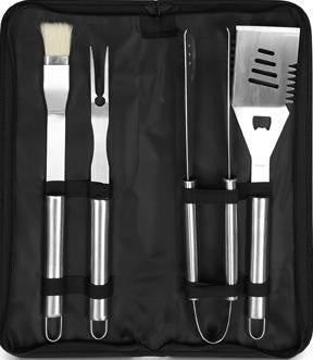 4 Piece Barbeque Set in Black Cases Sample - Adband