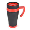 450ml Oregan Matt Black Travel Mugs  - Image 3