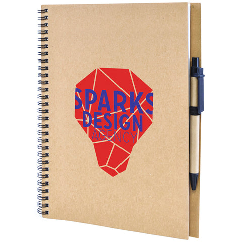 A4 Recycled Card Notebook and Pen