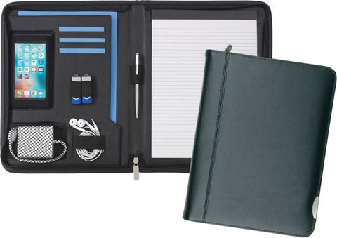 A4 Smart Fordcombe Leather Zipfolio