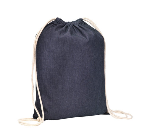 Hartley Denim Drawstring Bag