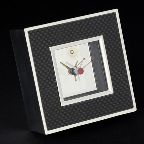Carbon Fibre Square Clocks