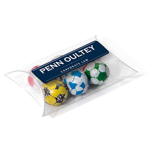 Chocolate Football Pouches