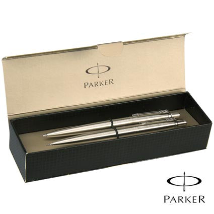 Parker Jotter Steel Pen and Pencil Set