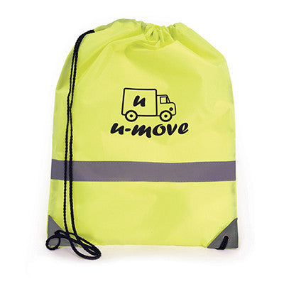 Fluorescent Reflective Drawstring Bags