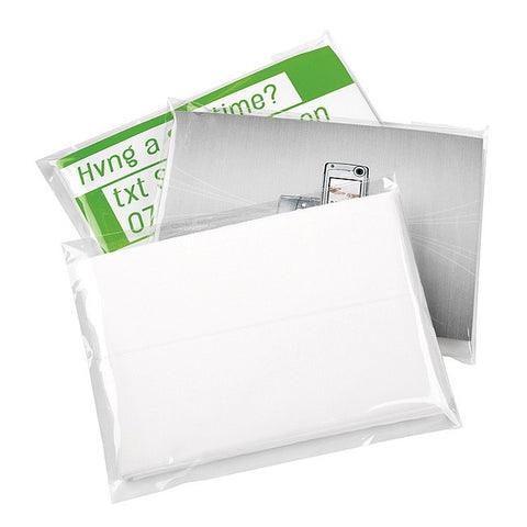 5 X 3-Ply White Tissues In Clear Poly Wrap Pack - Adband