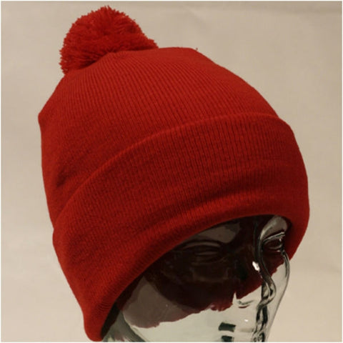 Acrylic Beanie with turn-up and bobble Sample - Adband