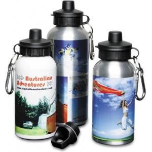 Aluminium Drinking Bottles - Full Colour - Adband