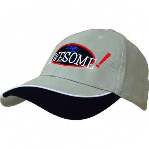 Baseball Cap with Indented Peak Sample - Adband