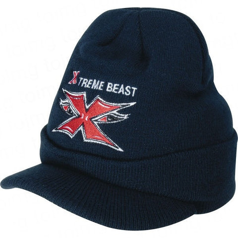 beanie hat with peak sample | Adband