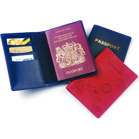 belluno pu passport holder in colours | Adband