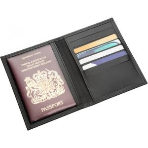 bonded leather passport wallet | Adband