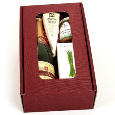 brie cheese and wine gift boxes | Adband