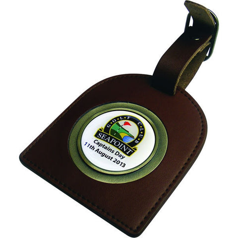 brown arched bag tag | Adband