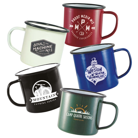 10oz Enamel Mugs
