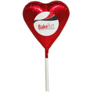 chocolate heart lollipop | Adband