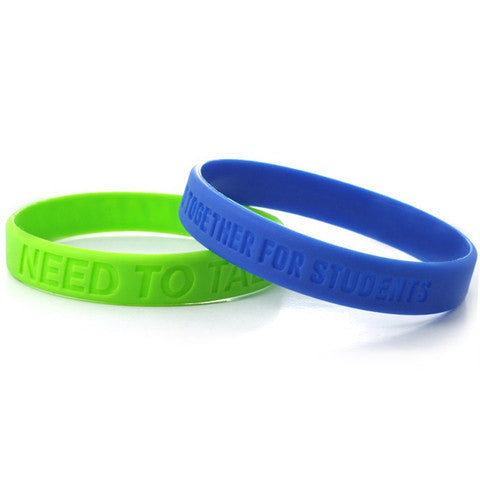 debossed silicone wristbands | Adband
