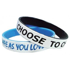 debossed dual layer silicone wristbands | Adband