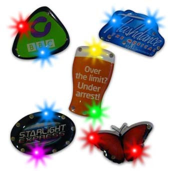 flashing plastic badges | Adband