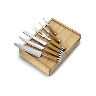 kitchen utensil set and chopping board in wood | Adband