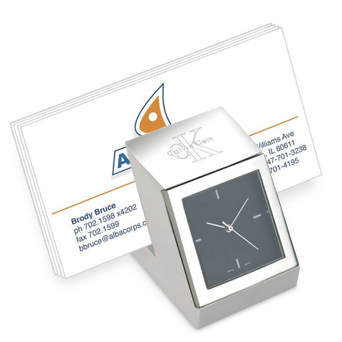 metal card holder clock | Adband