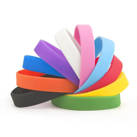 plain silicone wristbands | Adband