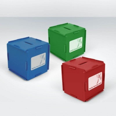 recycled money box cubes | Adband