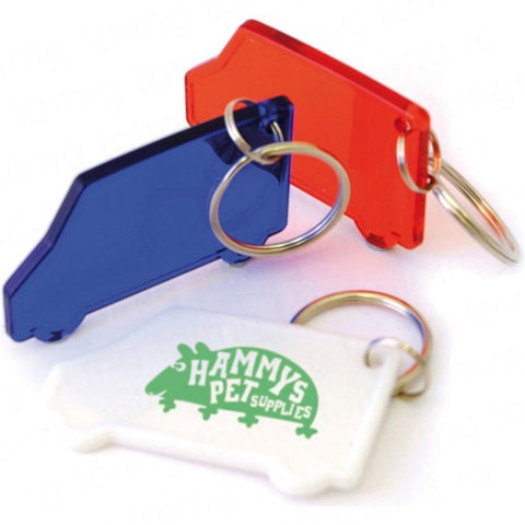 shaped frosted keyrings | Adband