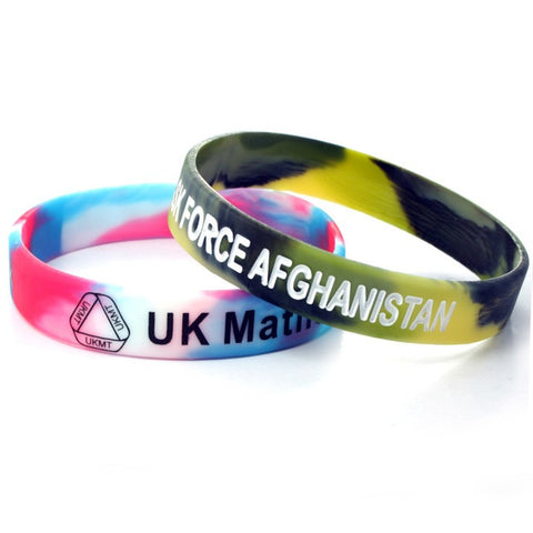 multicoloured silicone wristbands | Adband