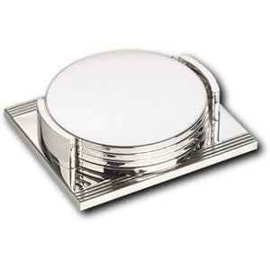 silver plated linear coaster sets | Adband