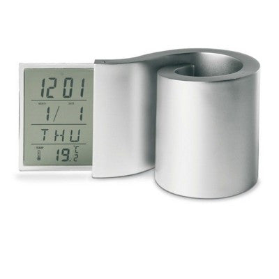 swirl pen clock pen pot | Adband