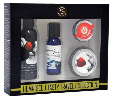Earthly Body Hemp Seed Tasty Travel Collection