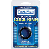Titanmen Cock Ring Stretch To Fit-Black - Covenant Spice