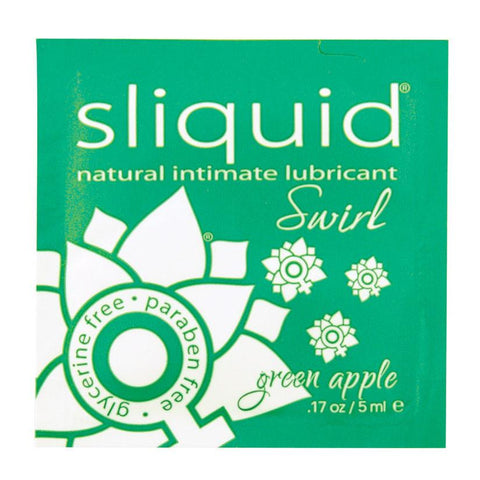Sliquid Swirl Foil Packet-Green Apple .17oz - Covenant Spice