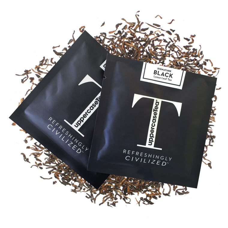 Black Loose Leaf Tea Refill Packs