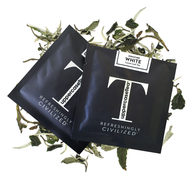 White Loose Leaf Tea Refill Packs