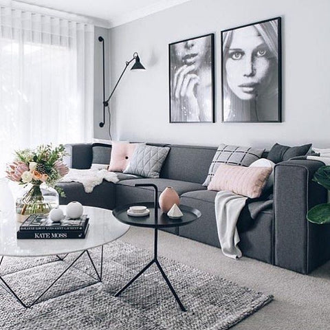 Calm living room decor